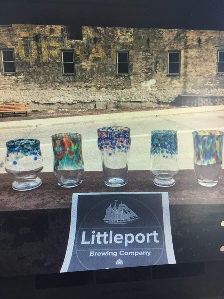 Handmade Littleport beer glasses from Hot Shop Glass! 1 year program